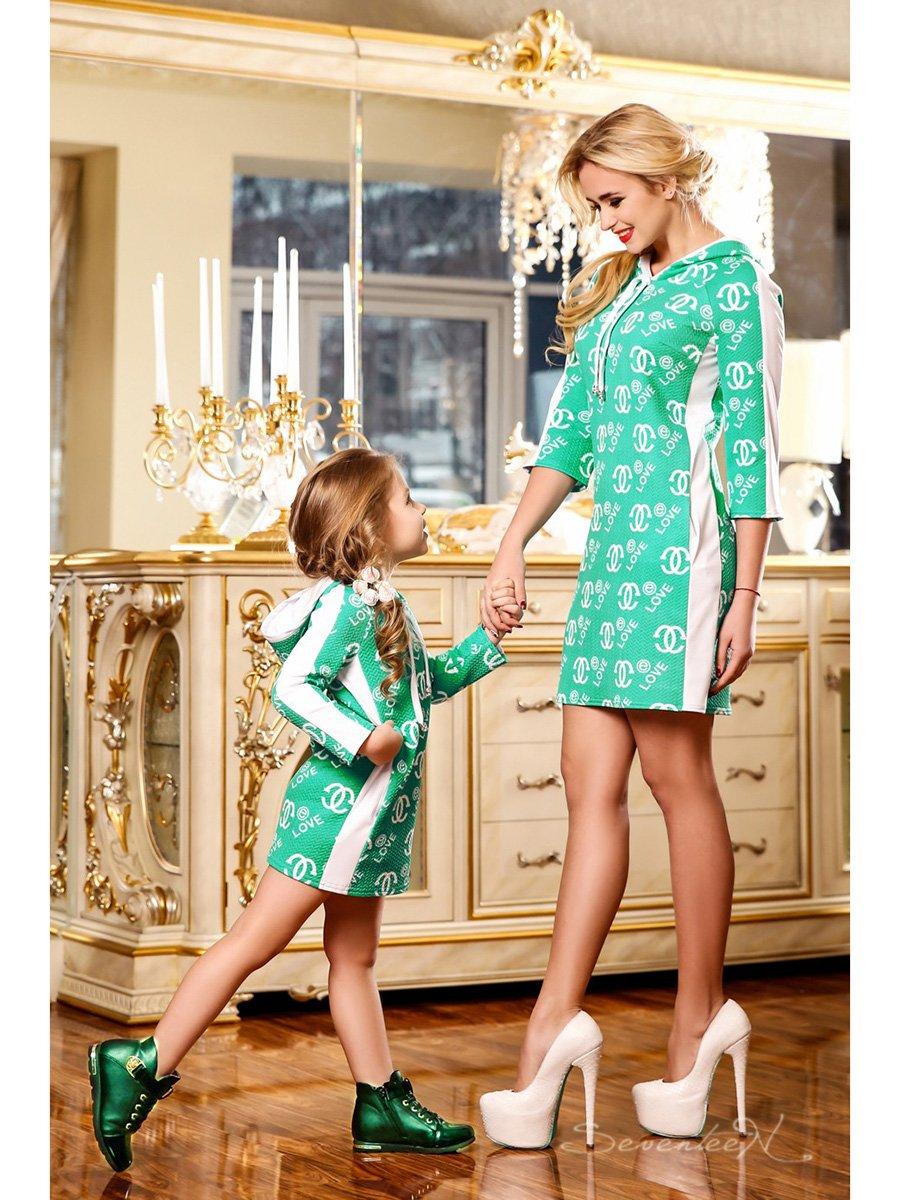 Сукня зелена в принт   2171991   фото 2