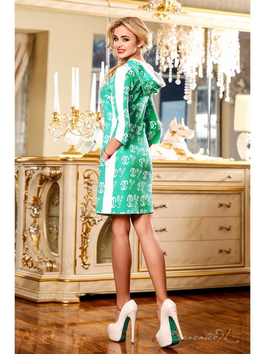 Сукня зелена в принт   2171991   фото 3