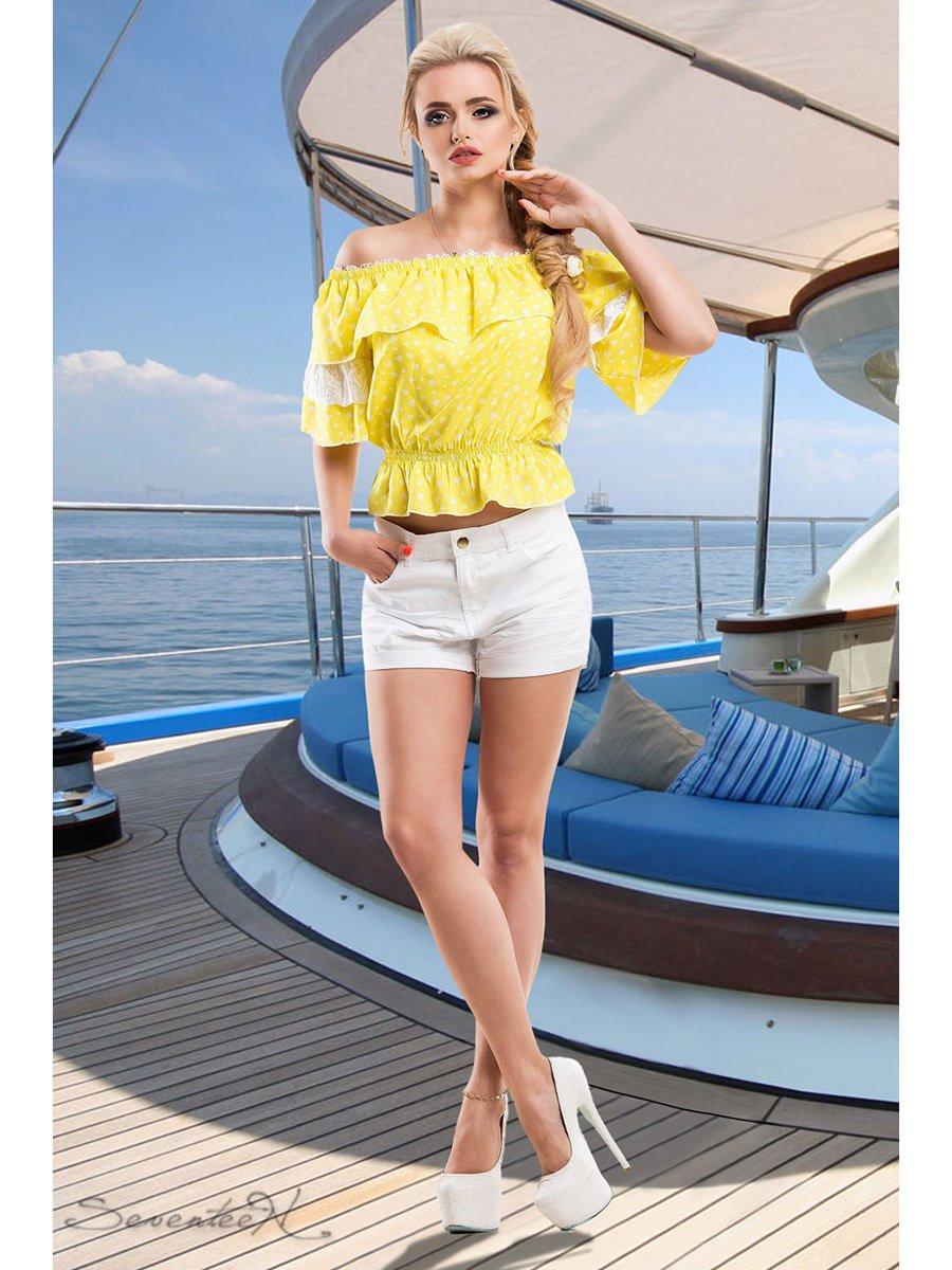 Блуза жовта в принт   2428422