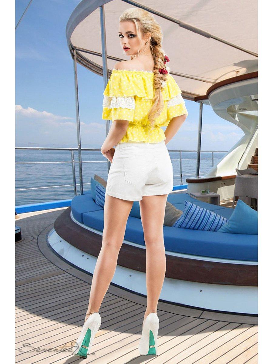 Блуза жовта в принт   2428422   фото 3