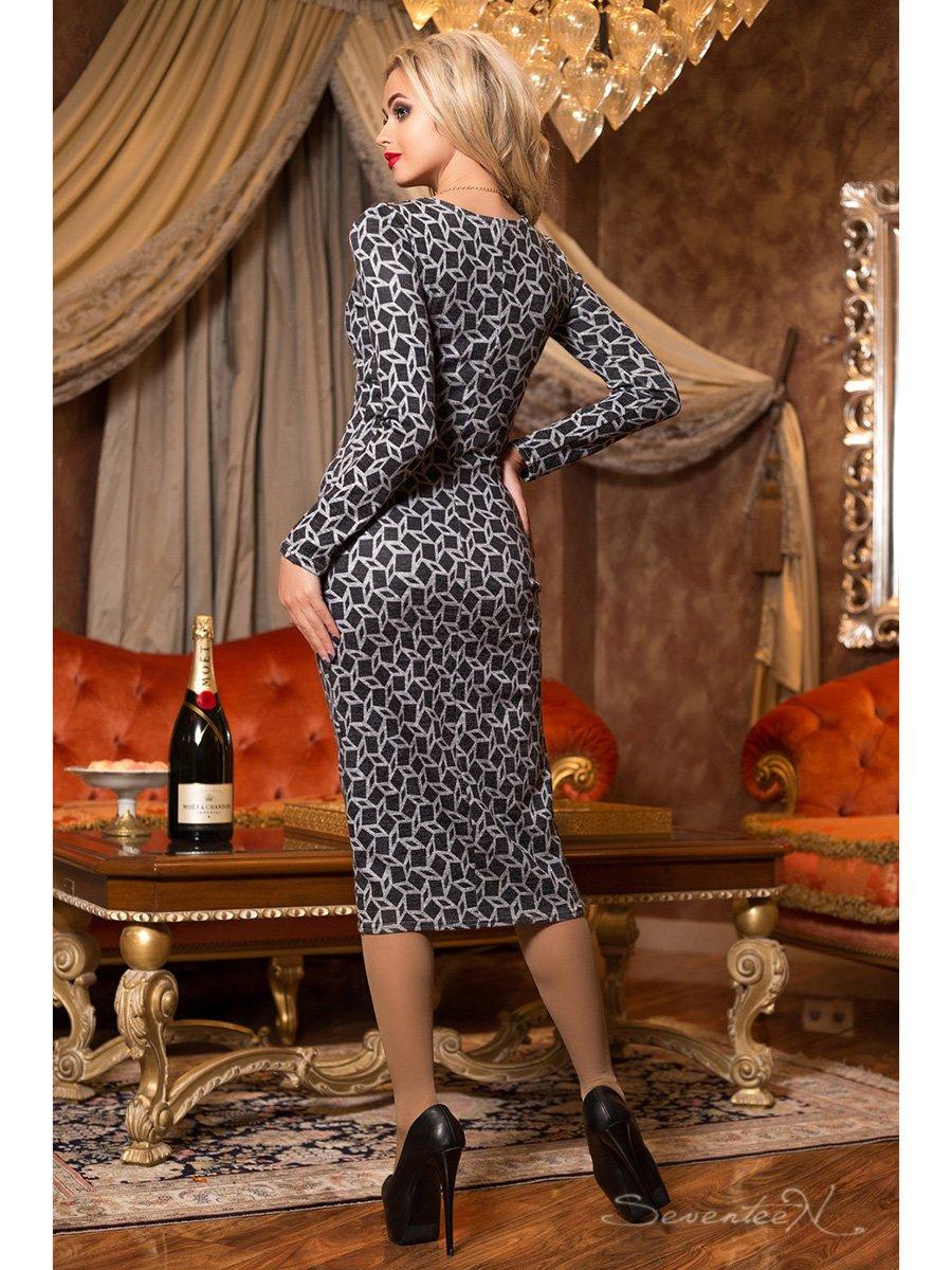 Сукня чорна в принт | 2891254 | фото 3