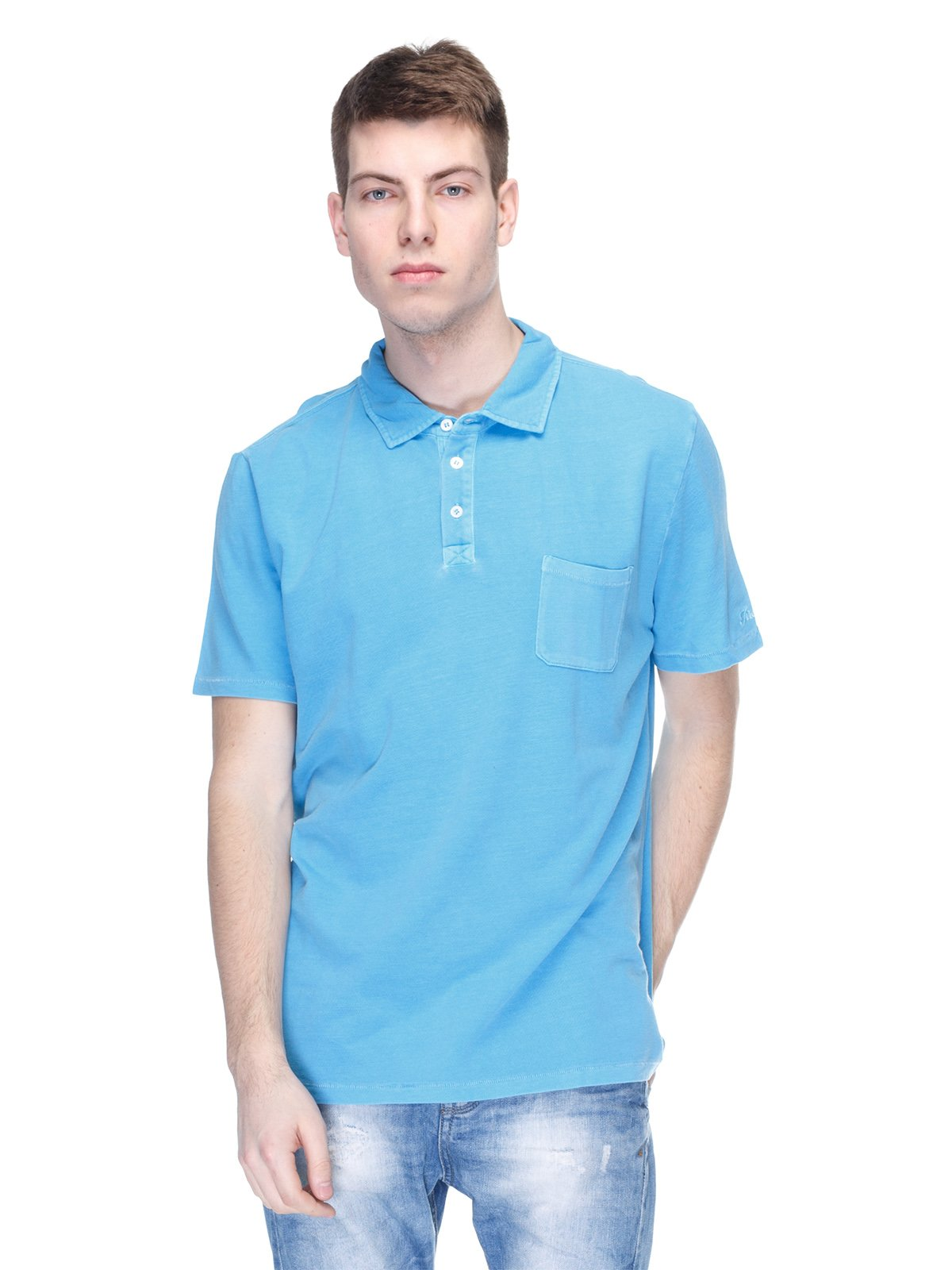 Футболка-поло блакитна | 2923920