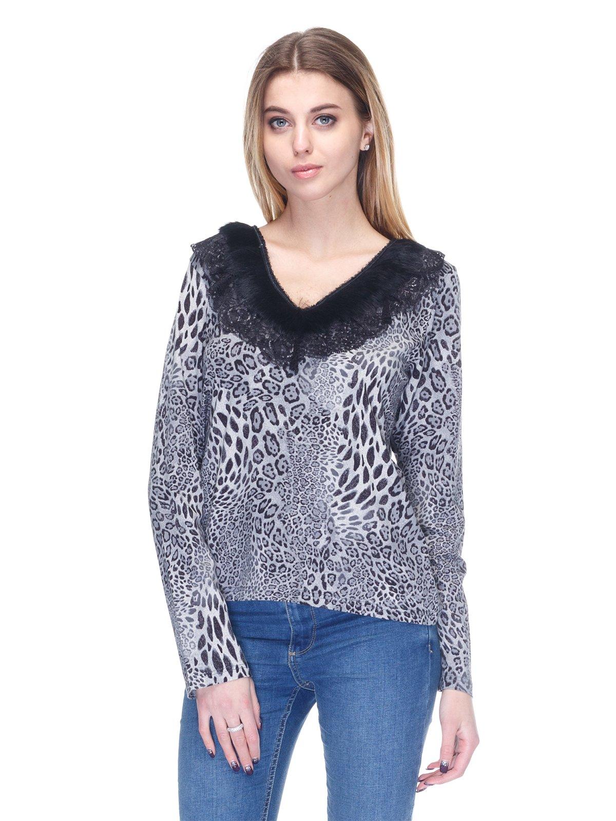 Пуловер серый | 2928684