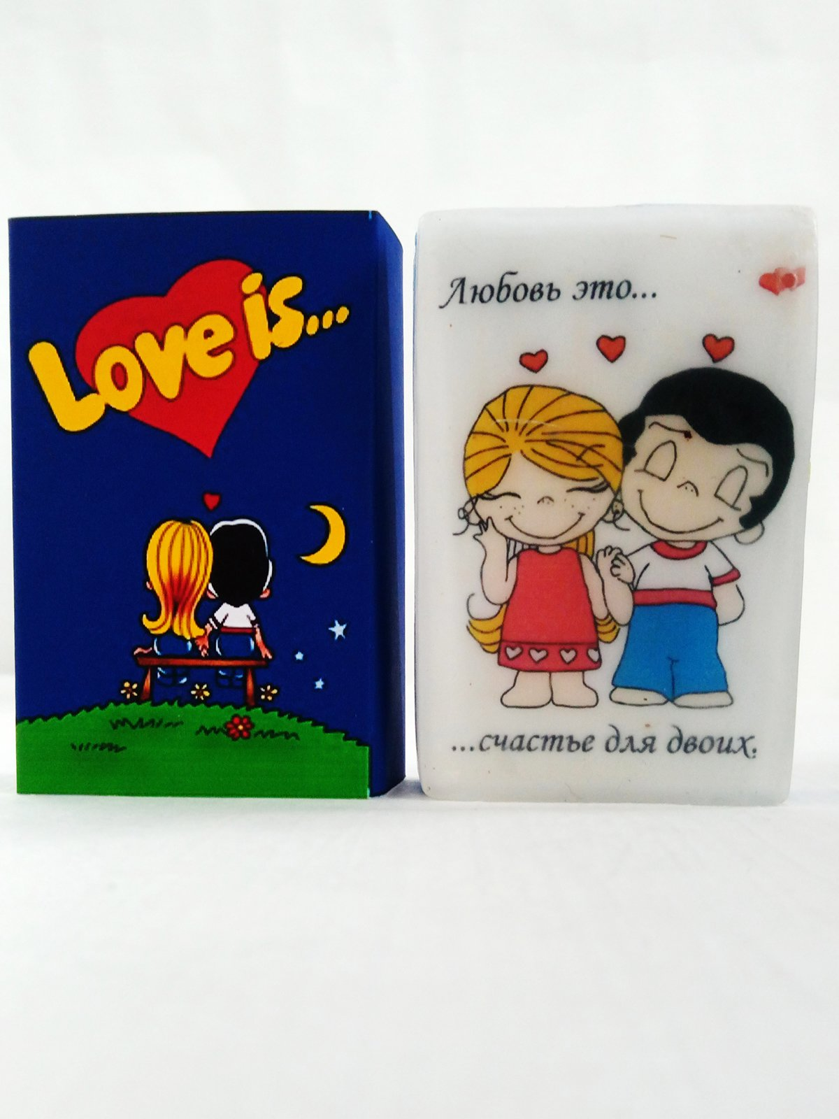 Мило ручної роботи в коробочці Love is синє (90 г)   2931152