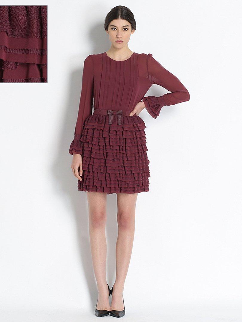 Сукня бордова | 2931413