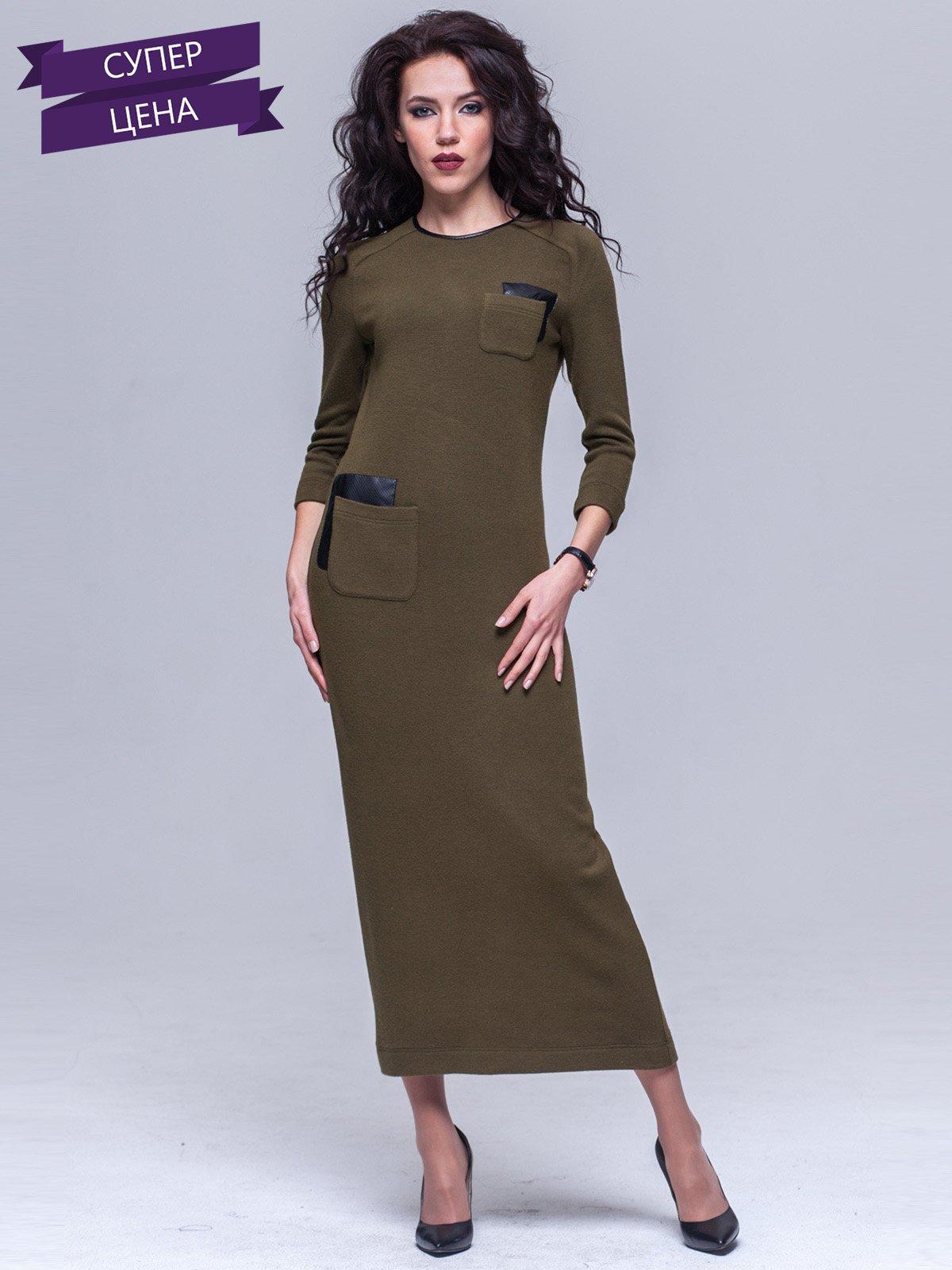 Платье цвета хаки | 2054336