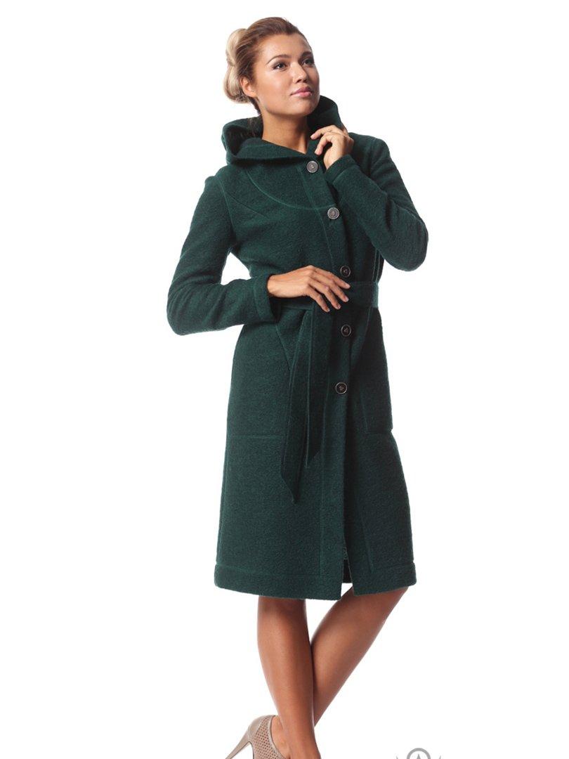 Пальто темно-зеленое | 2045308