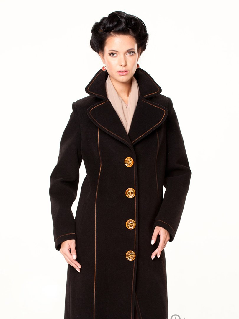 Пальто чорне | 2045337