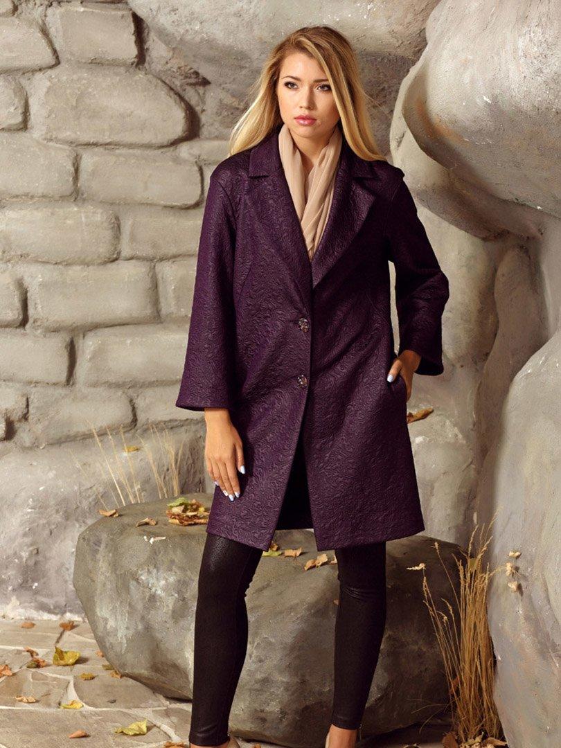 Пальто фиолетовое   2045366