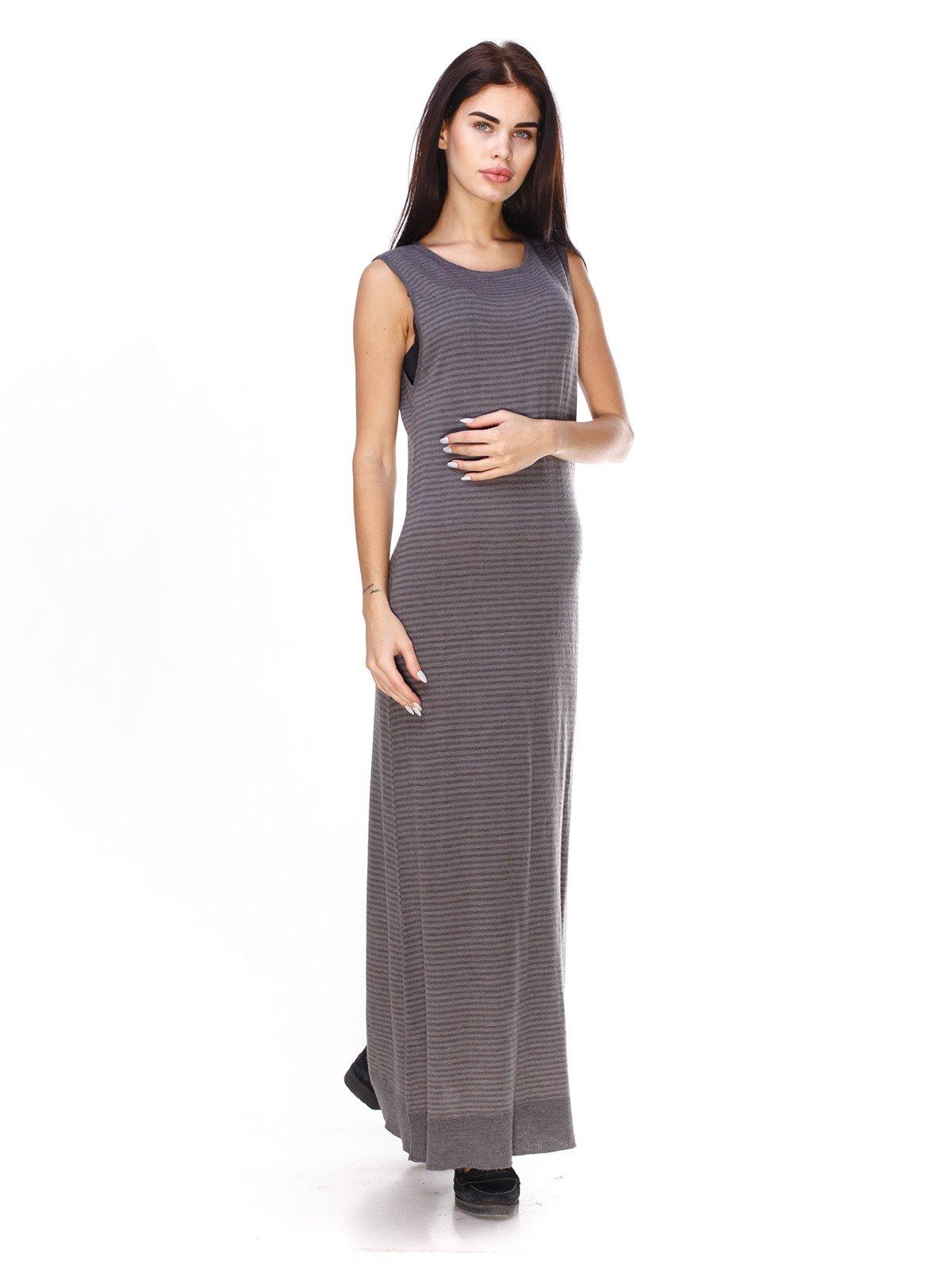 Платье серое в полоску | 2932188