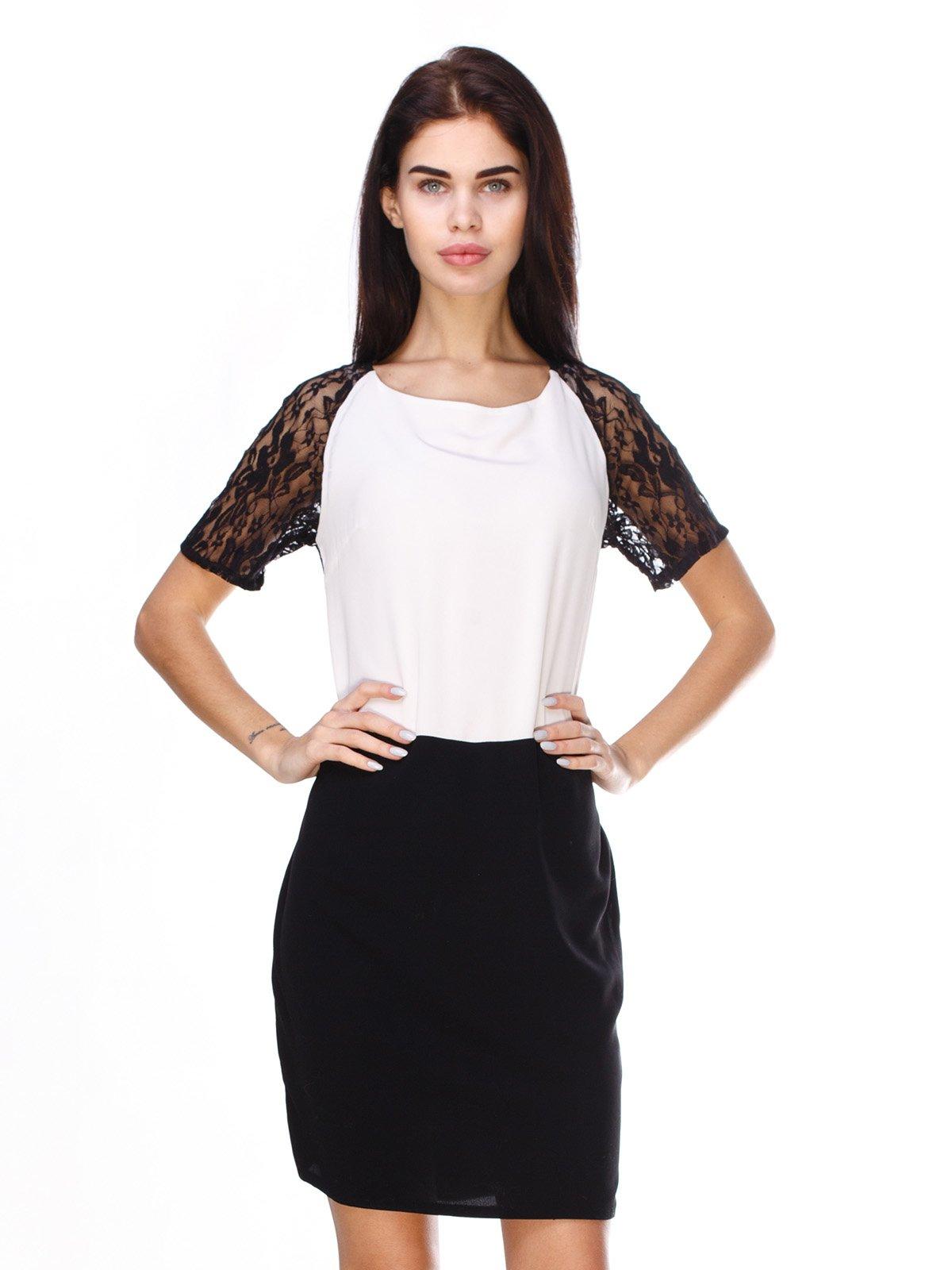 Платье черно-белое | 2932210