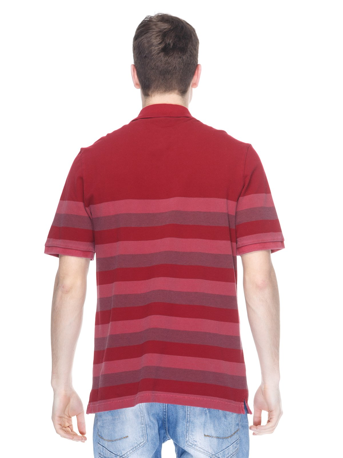 Футболка-поло червоний у смужку | 2333251 | фото 2