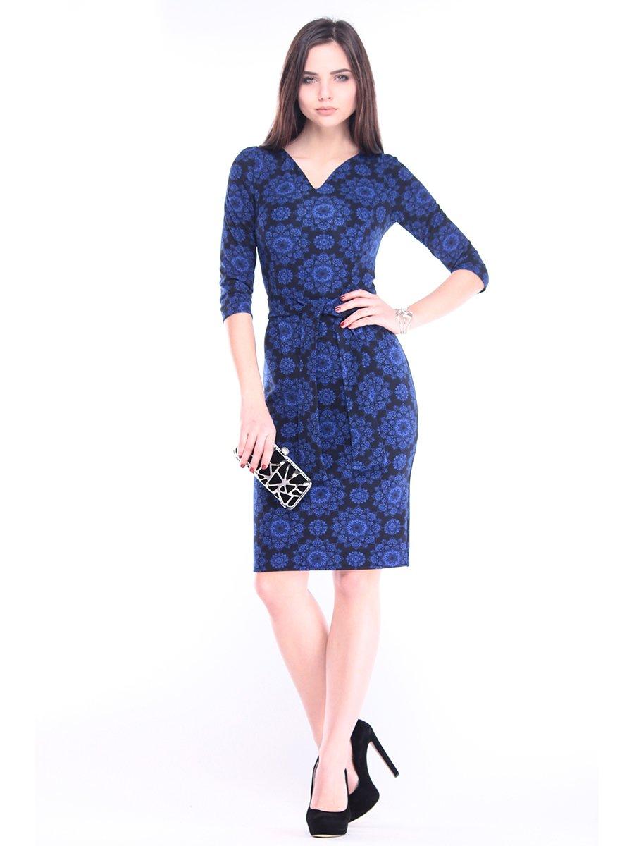 Сукня синя в принт | 2952425