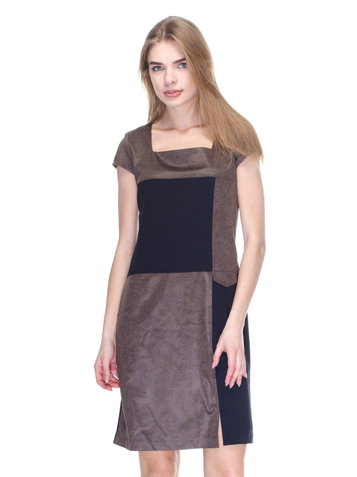 Сукня чорно-коричнева | 2946781