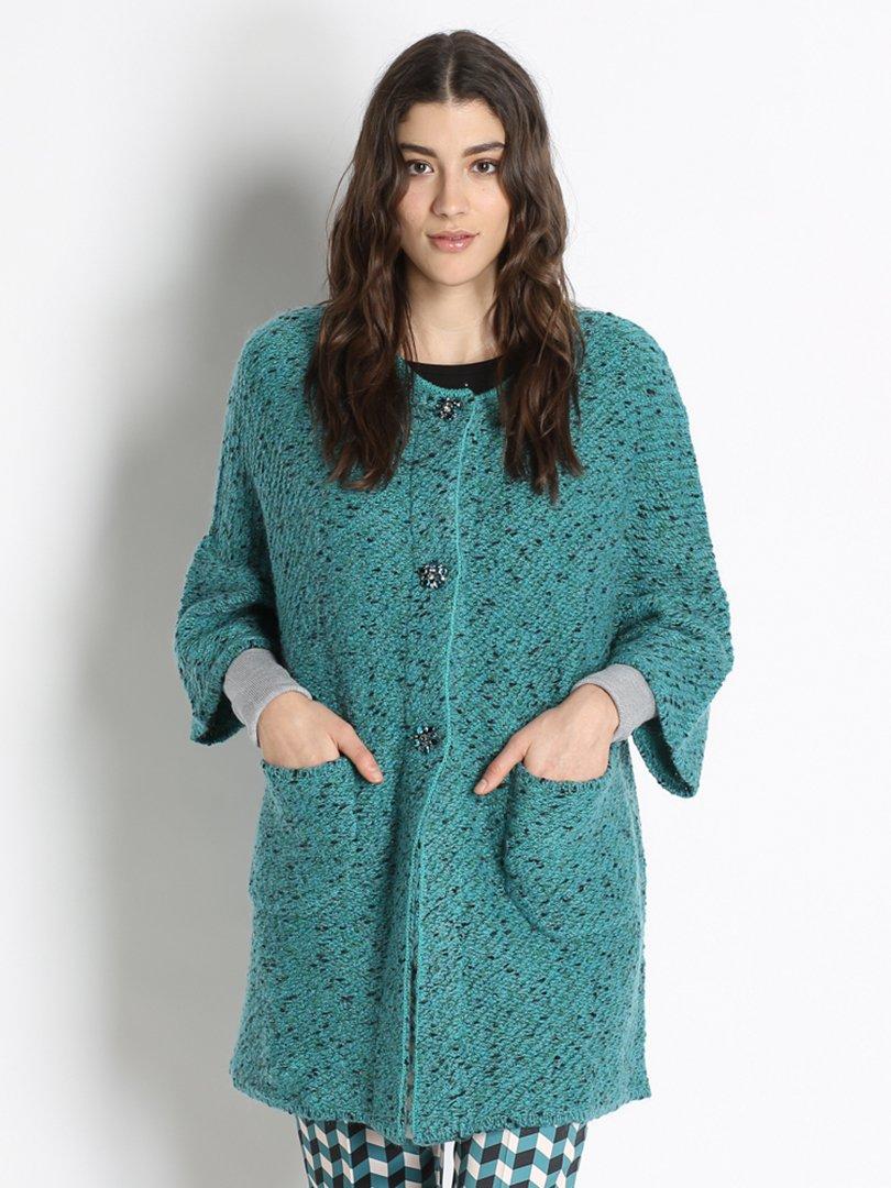 Пальто бирюзовое | 2758545