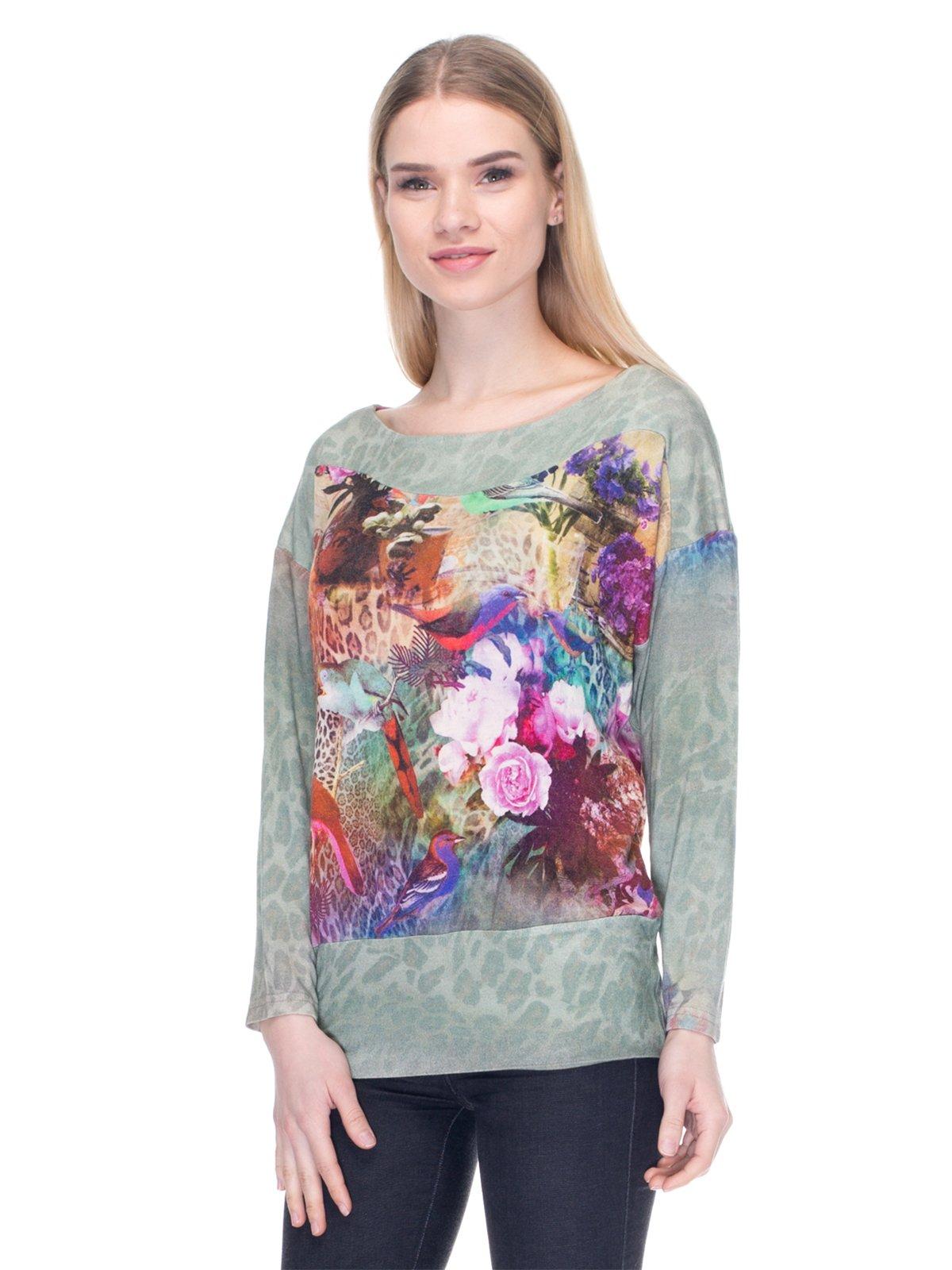 Джемпер комбинированной расцветки | 2946761