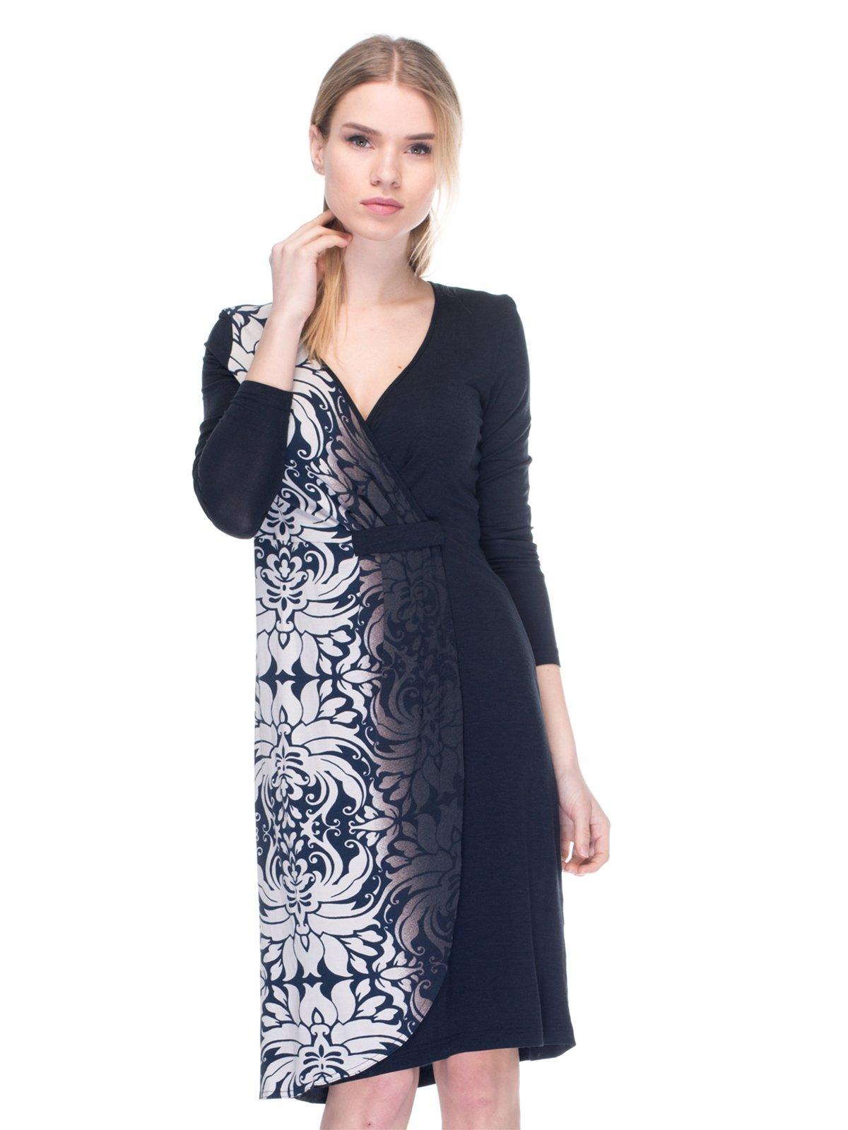 Платье черное с принтом | 2946814