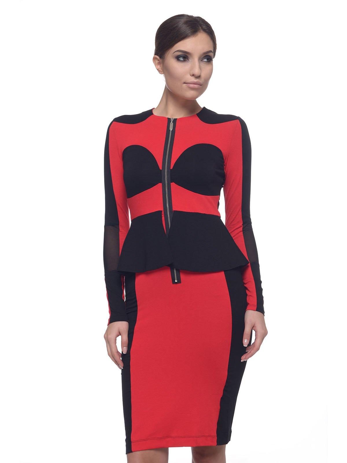 Платье красно-черное   2957300