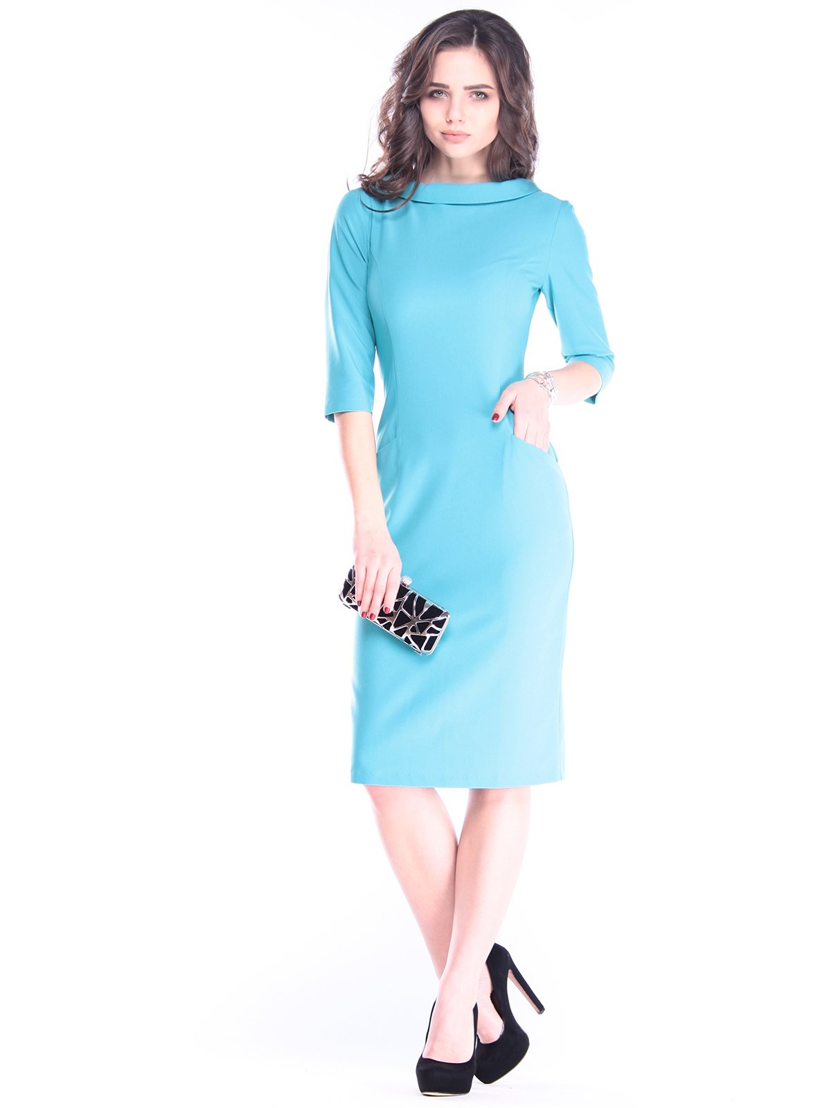 Сукня кольору зеленої бірюзи | 2962893
