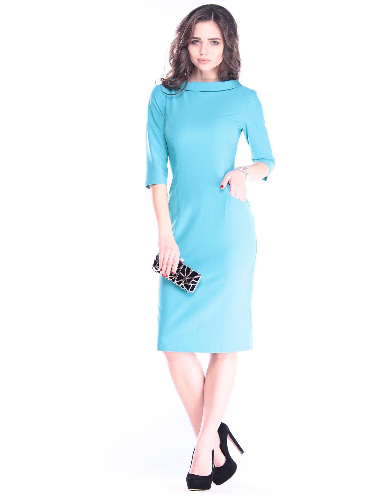 Платье цвета зеленой бирюзы | 2962893