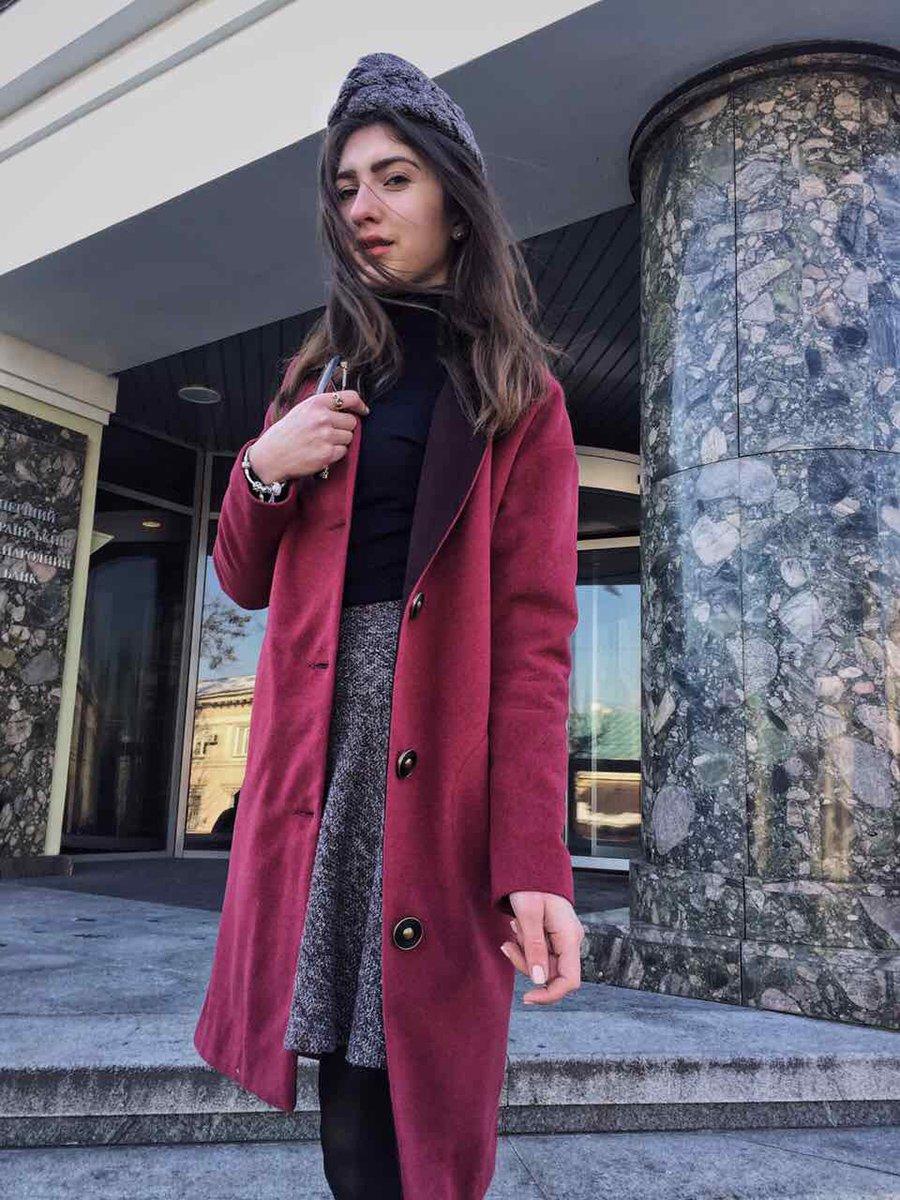 Пальто бордовое | 2875531 | фото 2