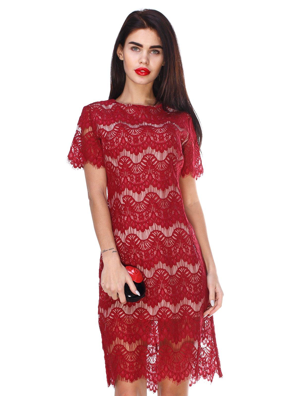Сукня кольору марсала   2959606
