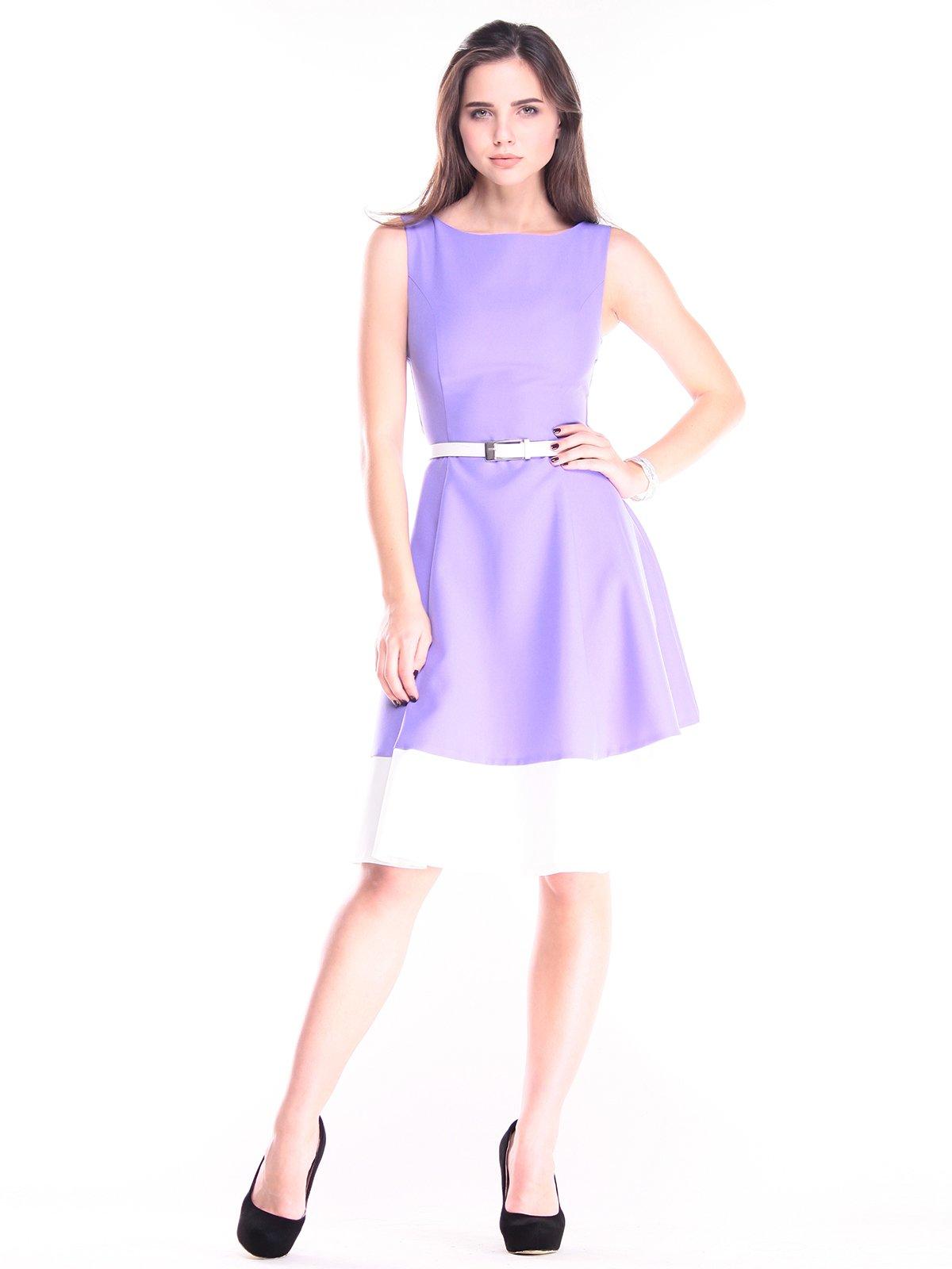 Платье сиренево-молочного цвета | 2833908