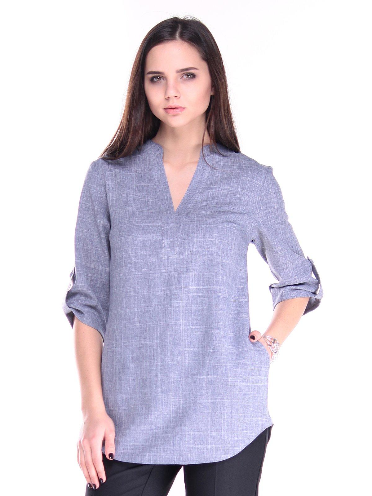 Блуза кольору фіолетового серпанку | 2870762
