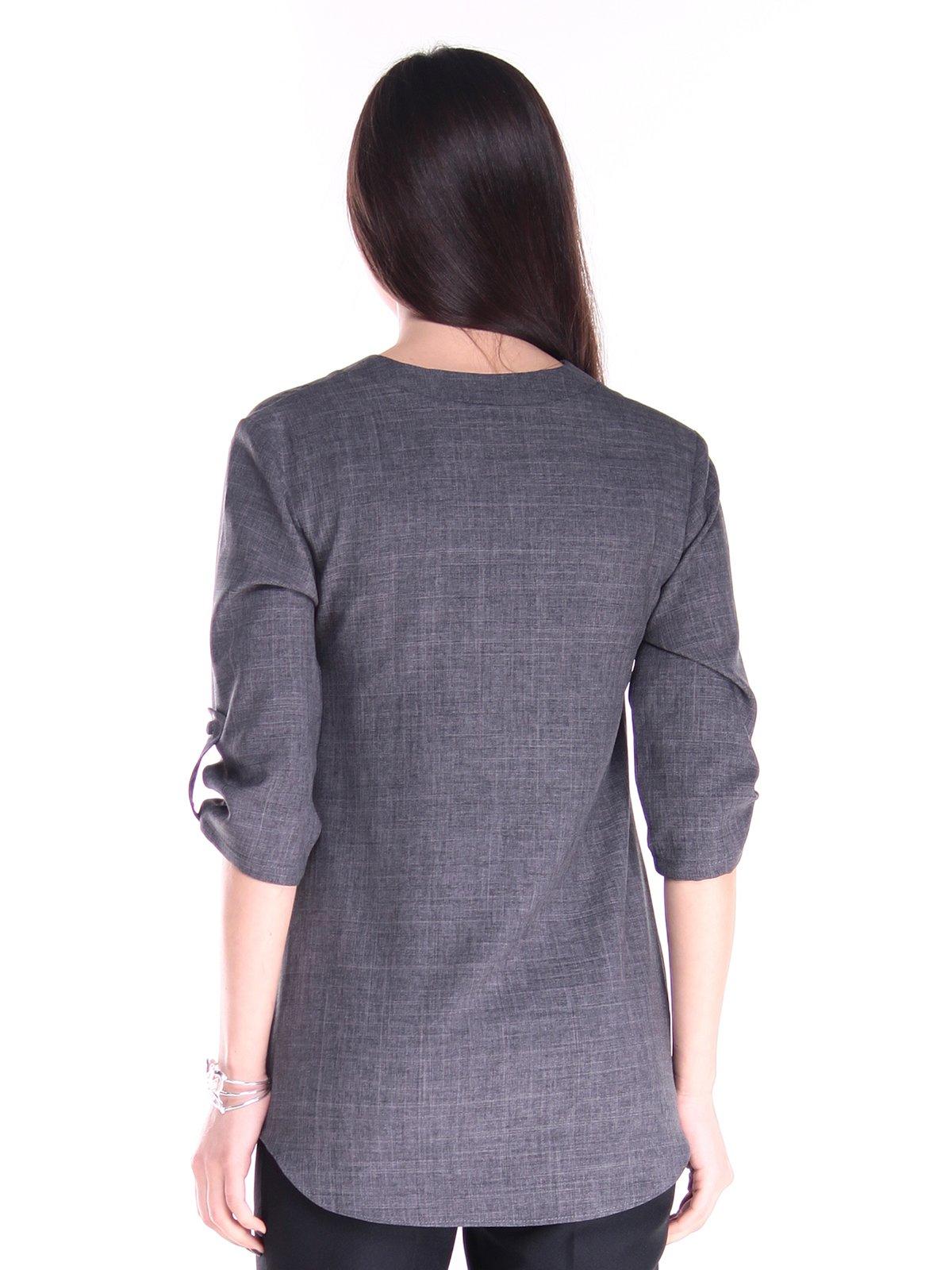 Блуза графитового цвета | 2917811 | фото 2