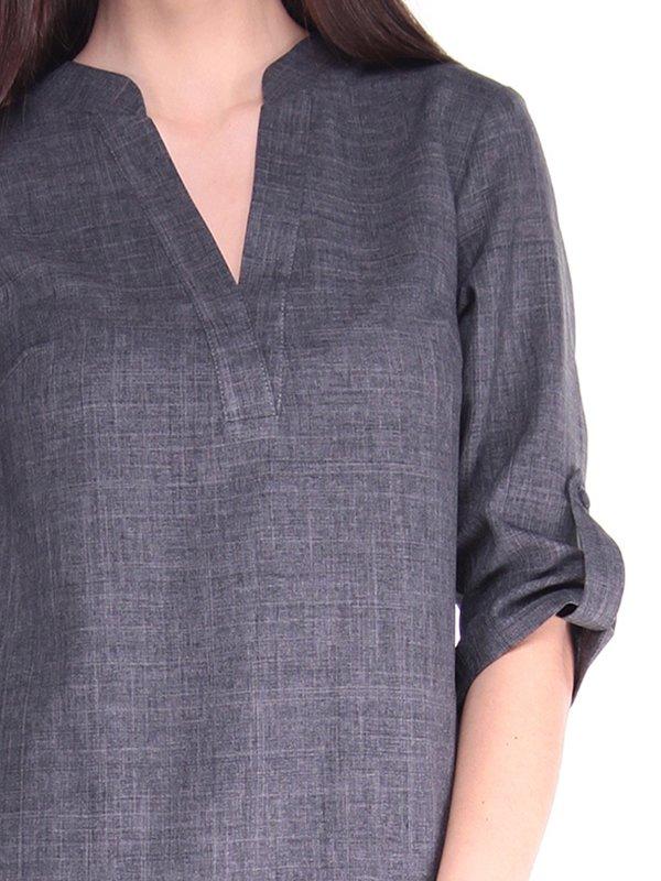 Блуза графитового цвета | 2917811 | фото 3
