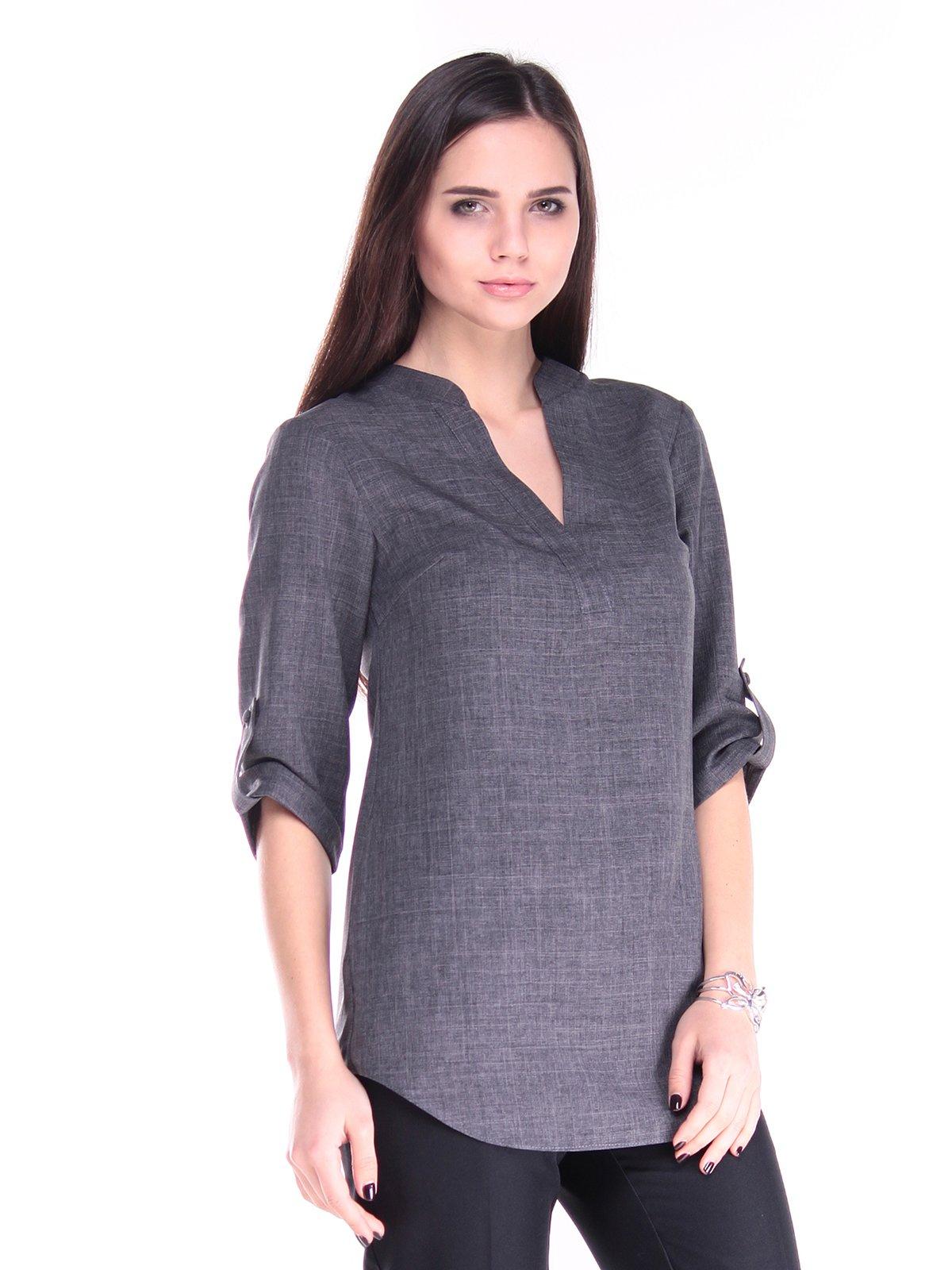 Блуза графитового цвета | 2917811 | фото 4