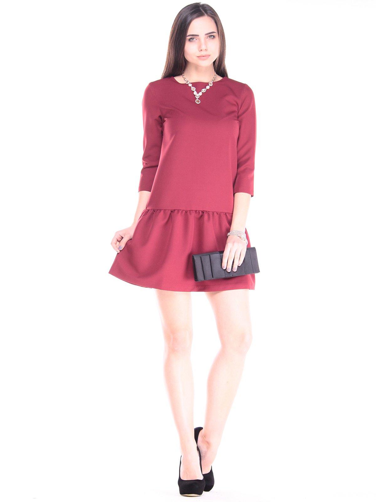 Платье бордовое | 2917834