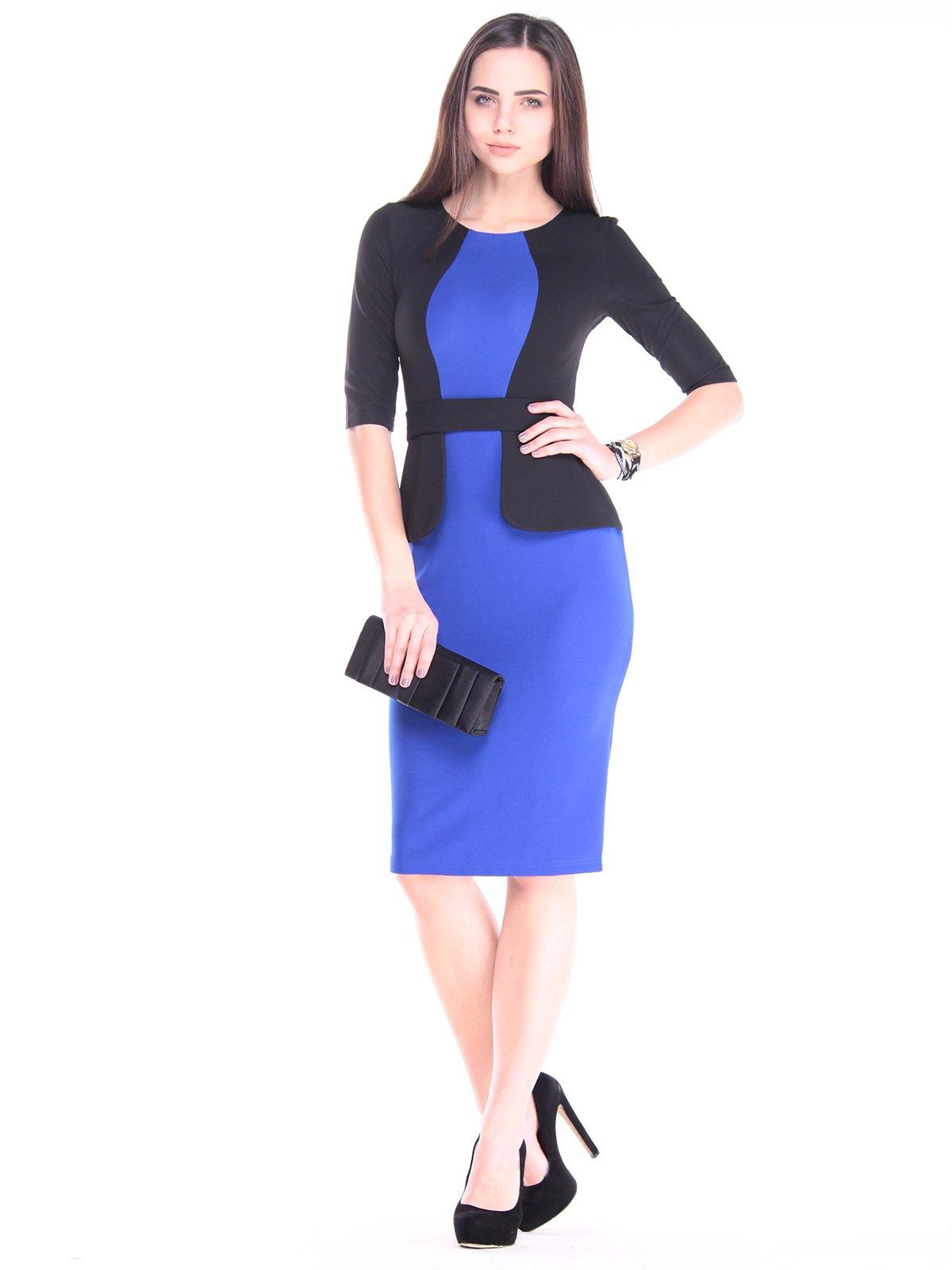 Платье черно-синее | 2917840