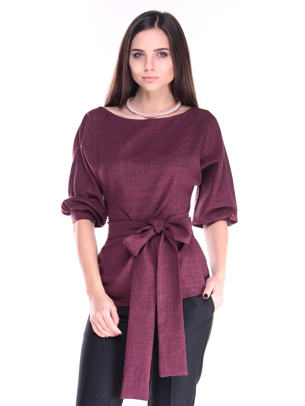 Блуза сливового цвета | 2952446