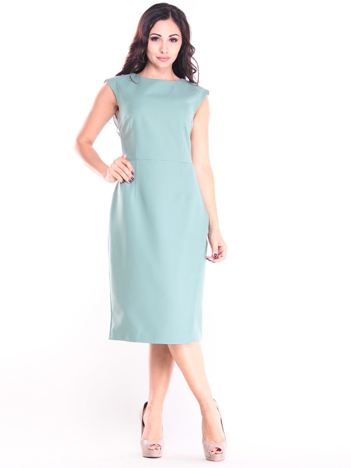 Платье оливкового цвета | 2844962