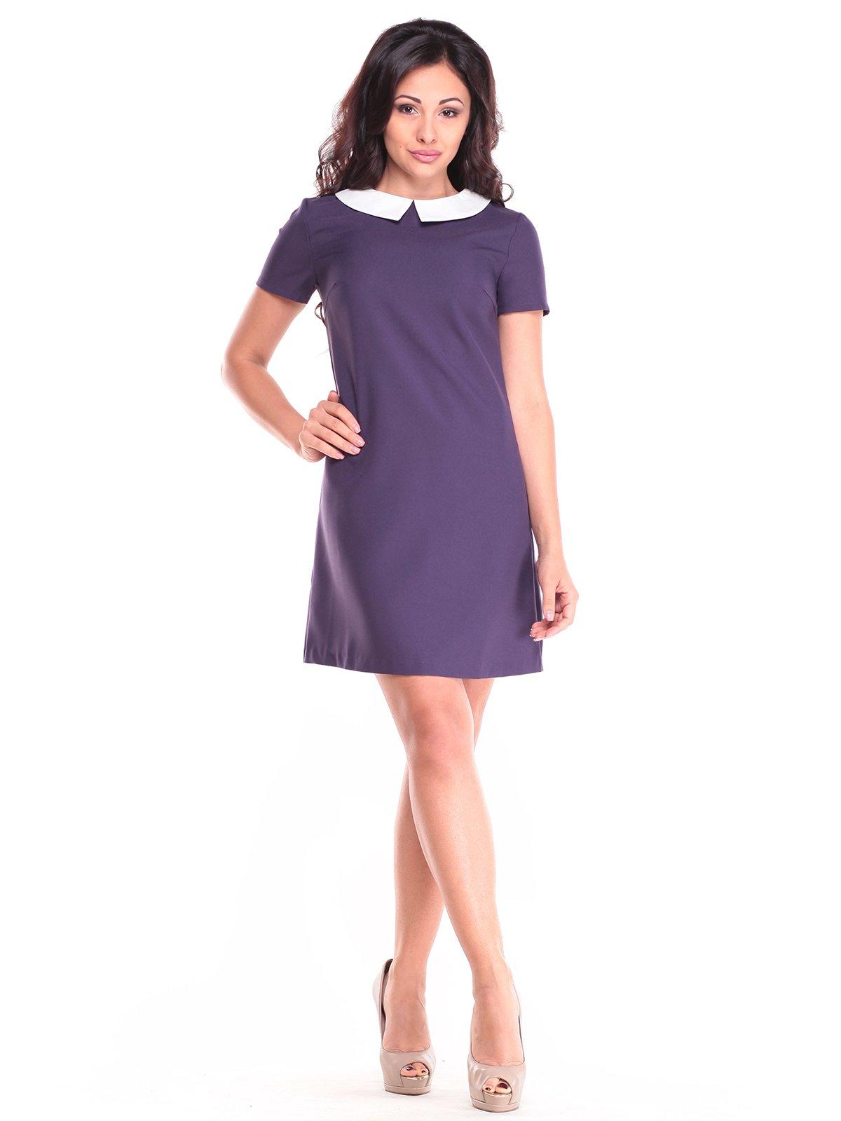 Сукня фіолетово-білого кольору | 2753940