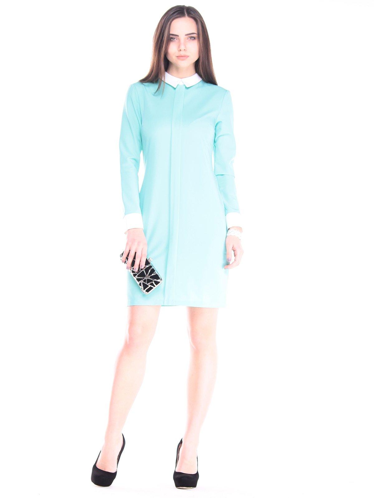 Сукня ментолово-молочного кольору | 2918011