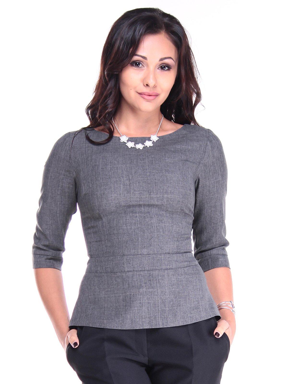 Блуза графитового цвета   2933696
