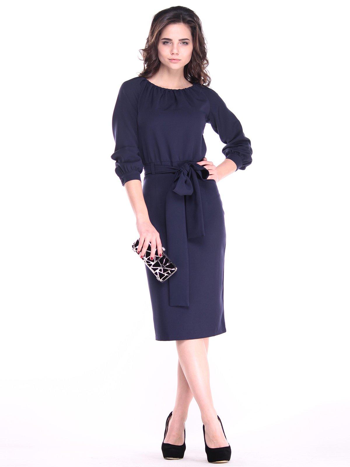 Платье темно-синее | 2933713