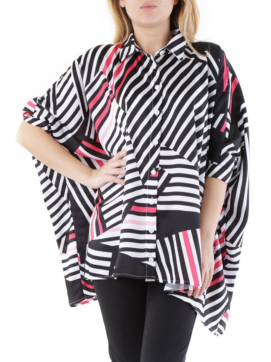Блуза з рожевим принтом   2984913