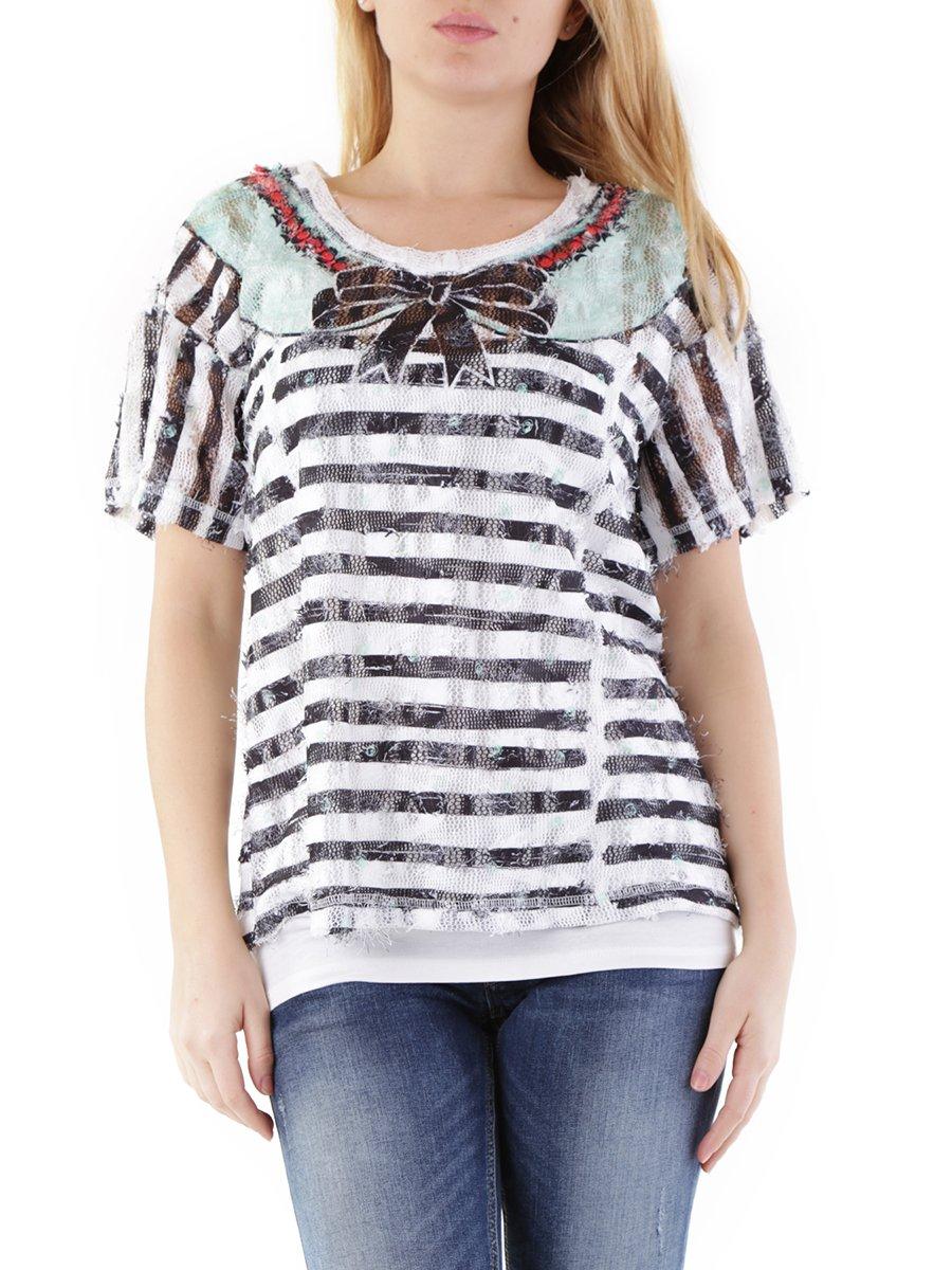 Блуза разноцветная в полоску | 2985011