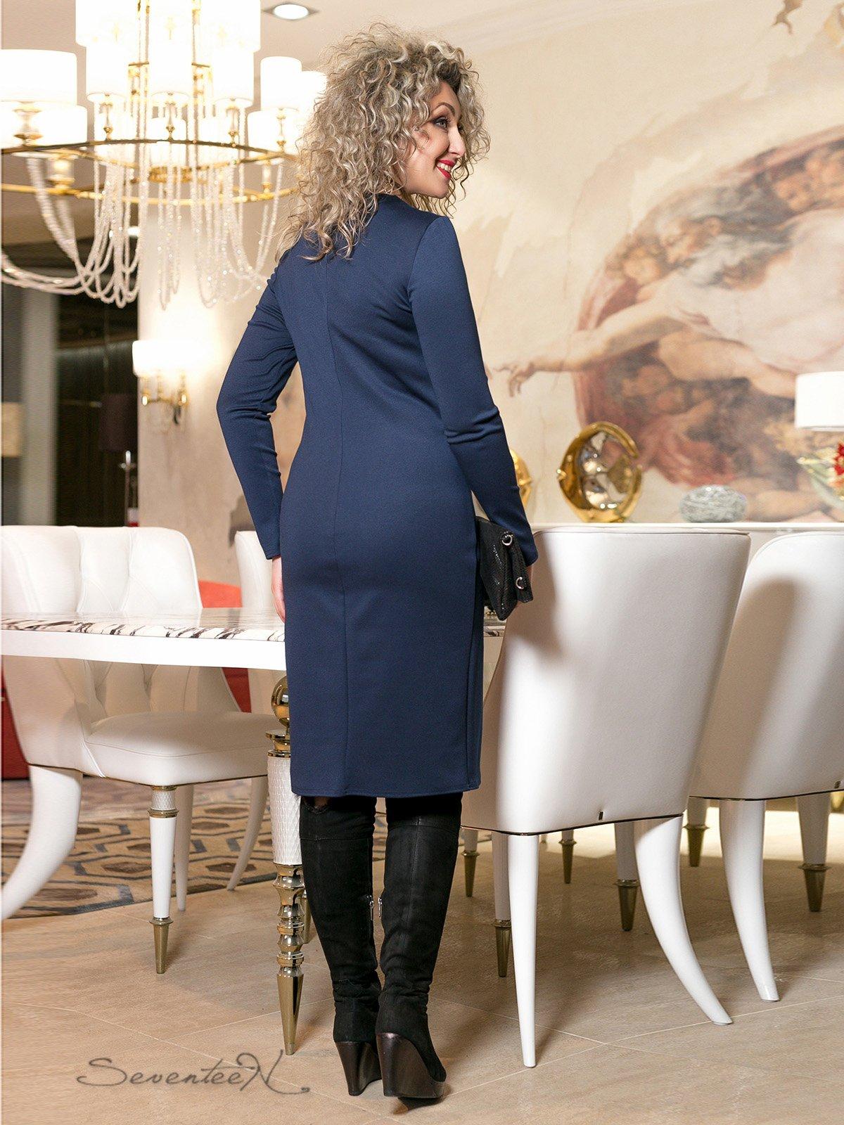 Сукня синя з принтом | 2996013 | фото 4