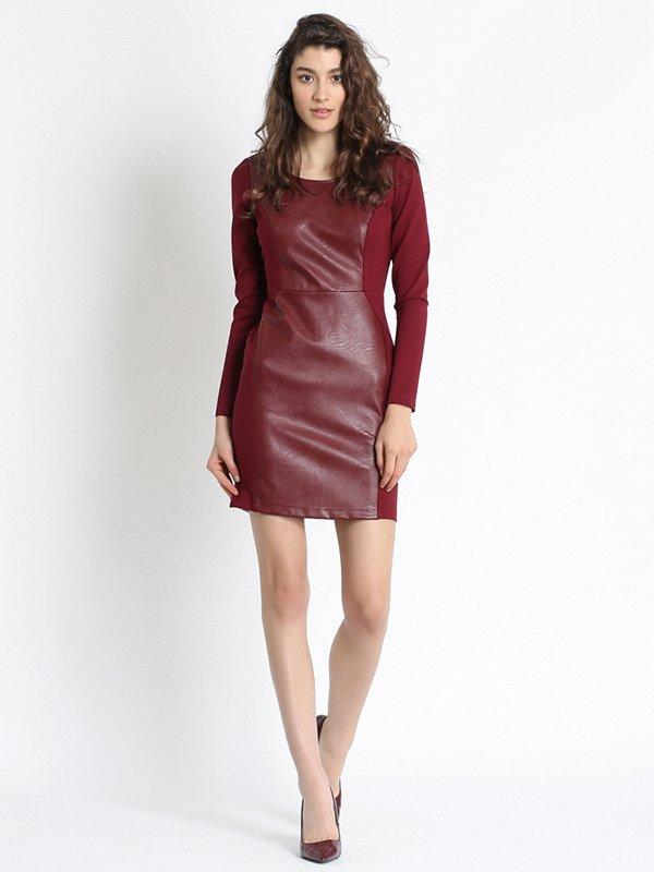 Платье бордовое | 2691489