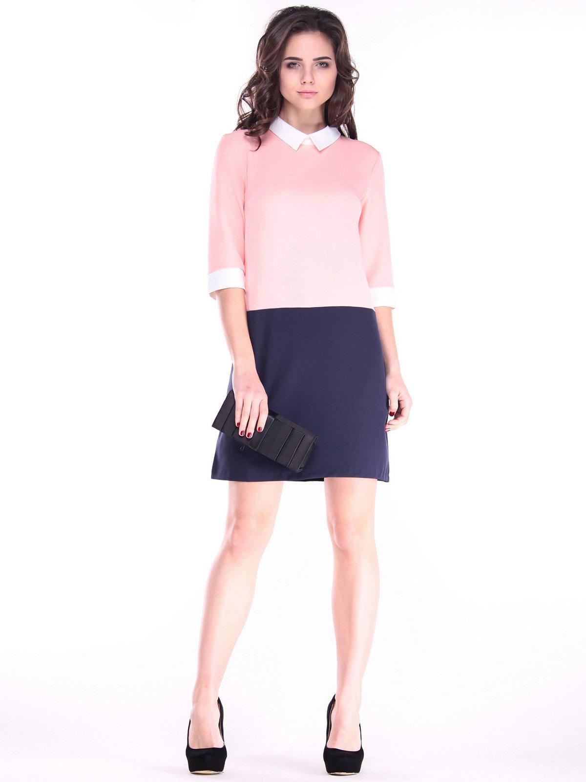 Сукня персиково-синього кольору | 2917883