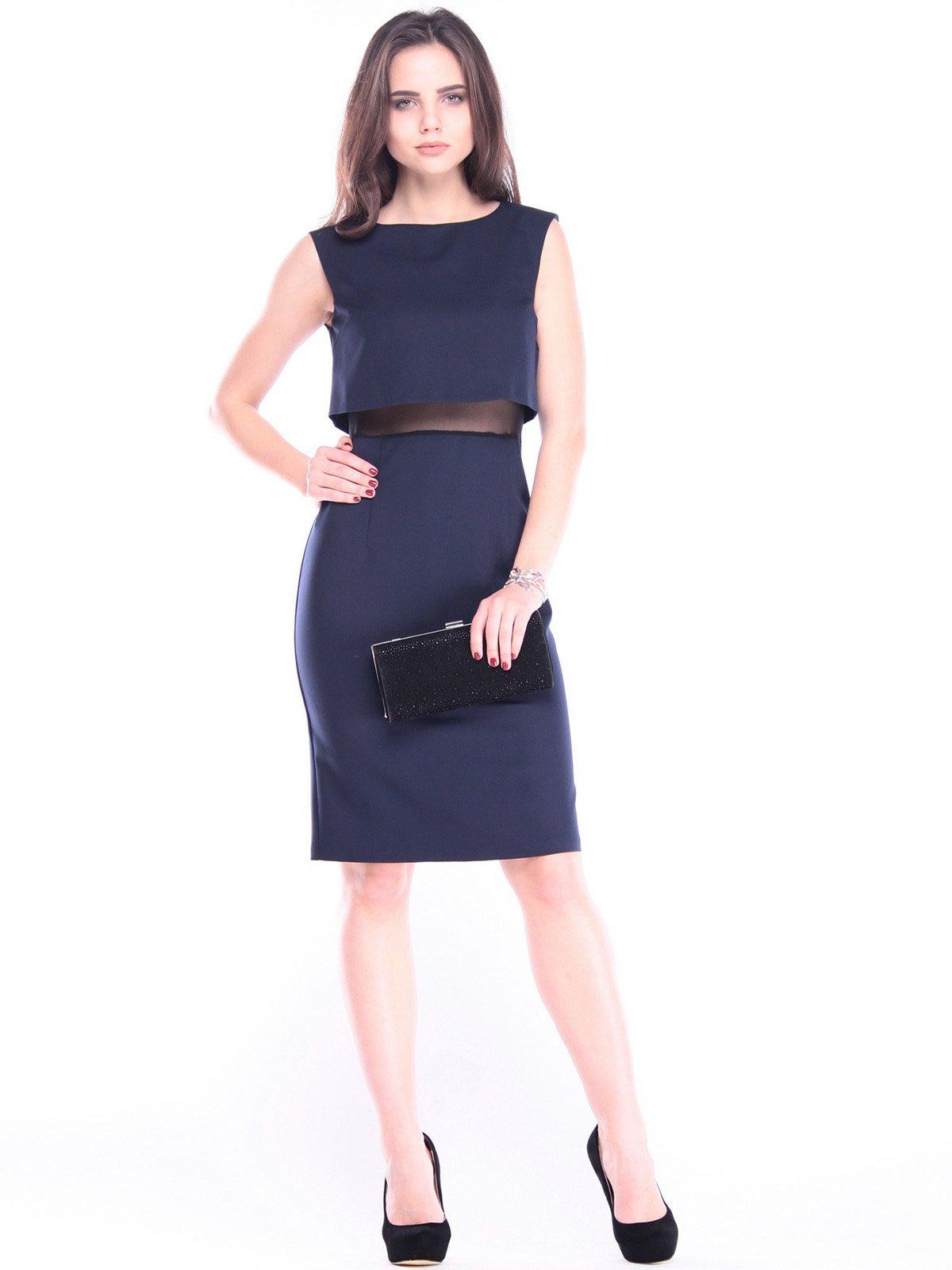 Платье-сарафан темно-синее | 2962246