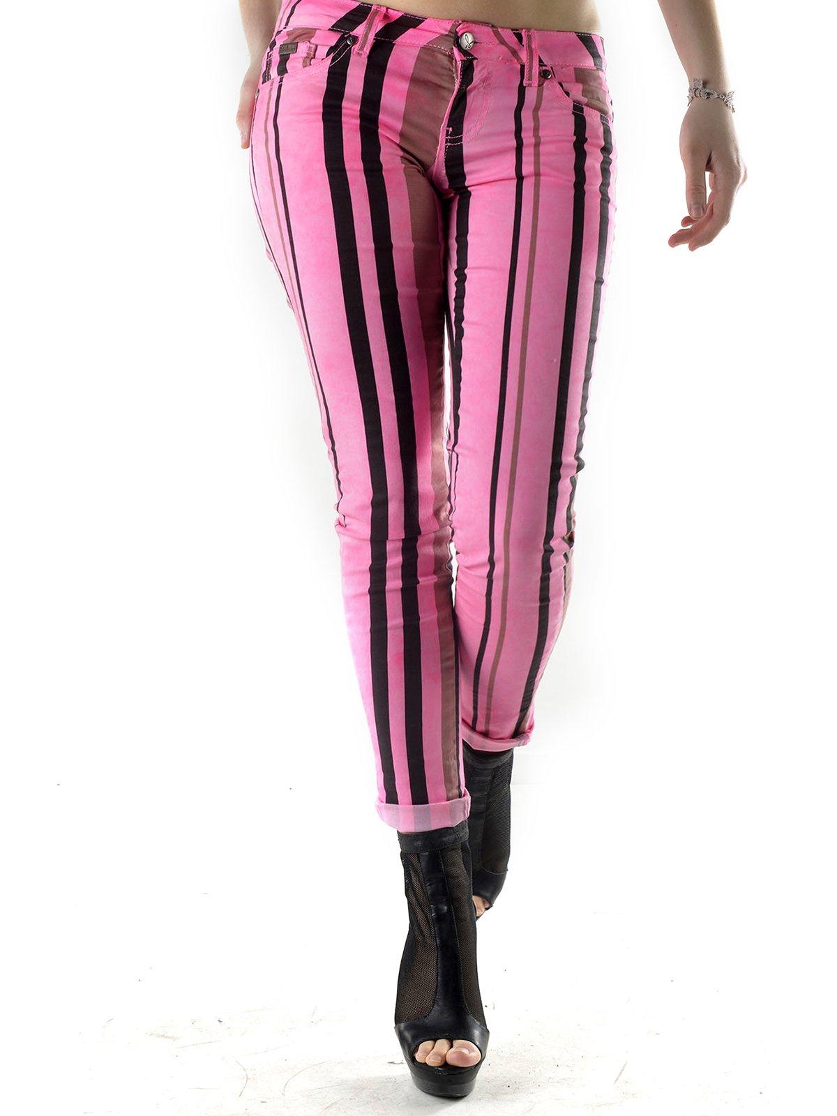 Штани рожеві у смужку | 3025688