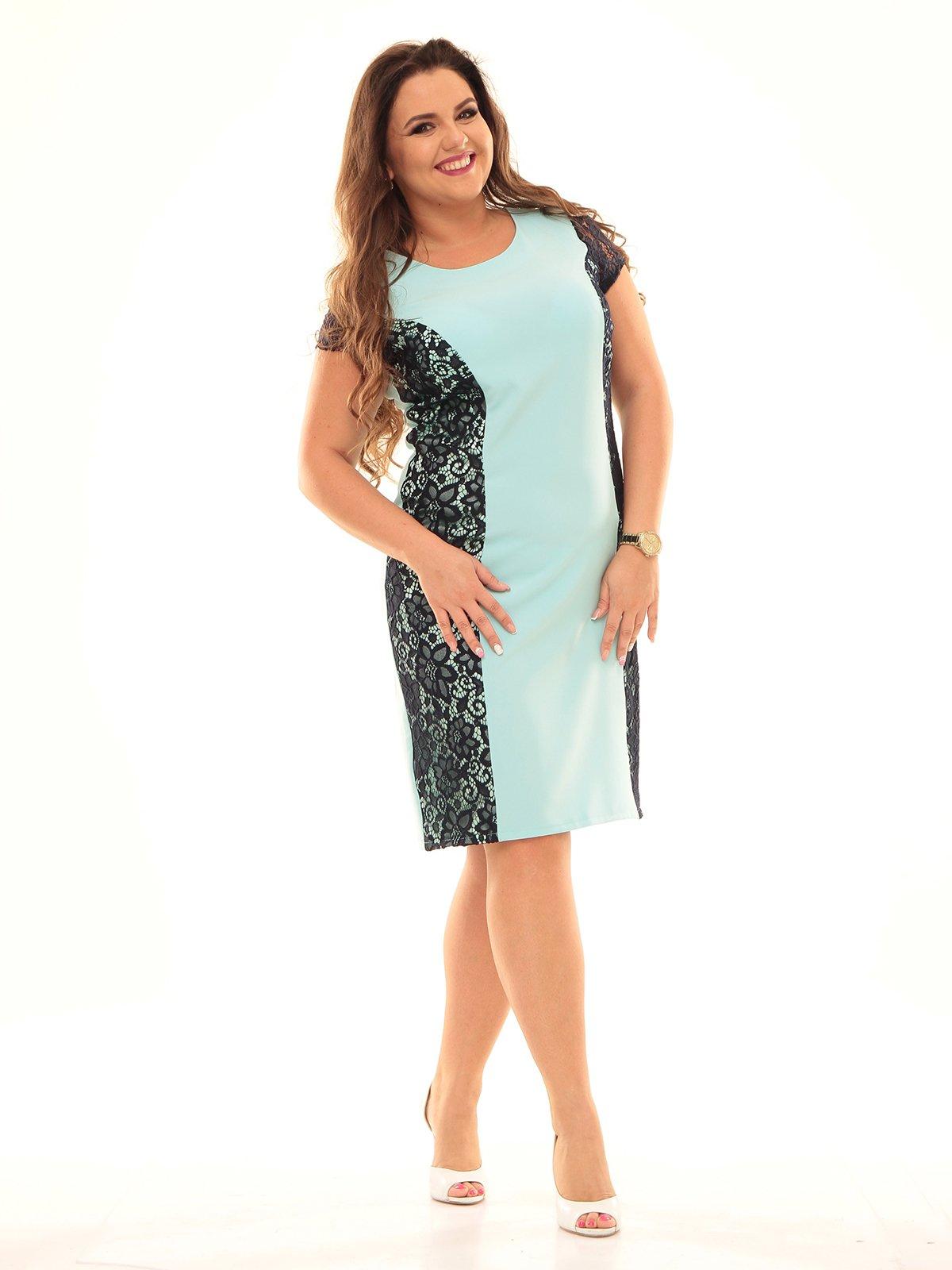 Платье черно-голубое | 2592916