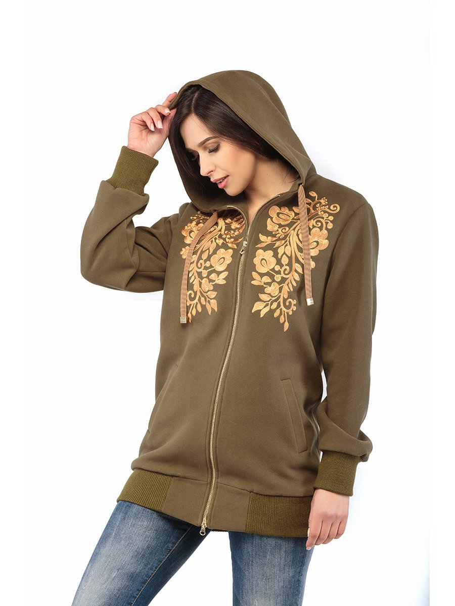 Куртка кольору хакі | 3043243