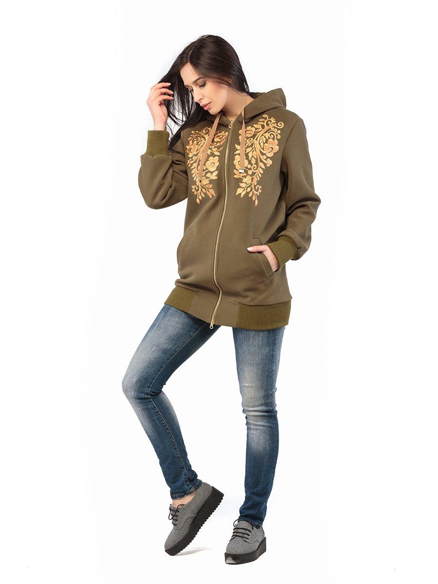 Куртка кольору хакі | 3043243 | фото 2