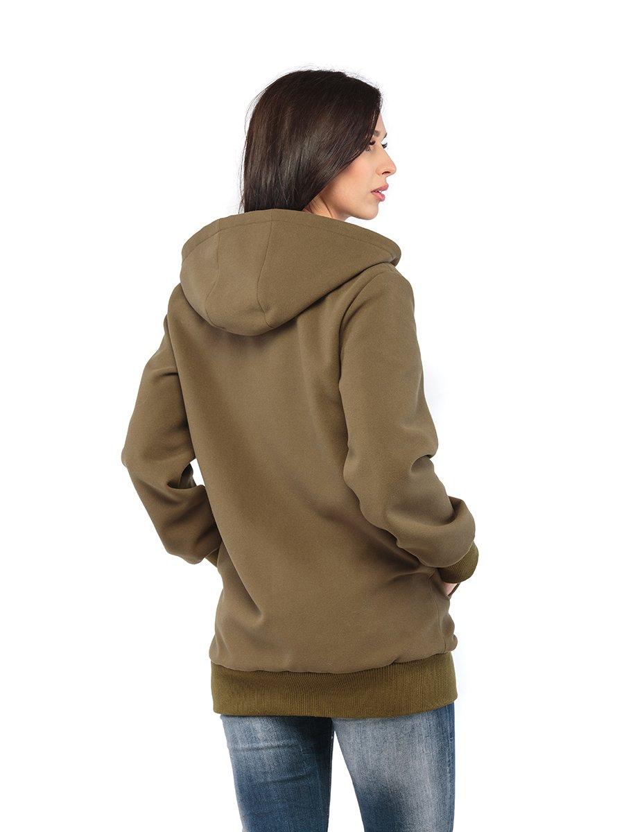 Куртка кольору хакі | 3043243 | фото 3